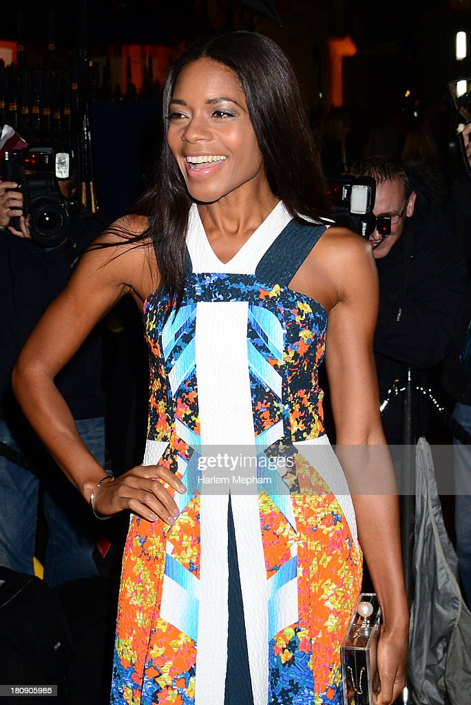 Naomie Harris arrives at Annabels for LFW Closing party on September 17, 2013 in London, England.