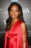 Naomie Harris arrives at the Alexander McQueen Savage Beauty Fashion Gala at the VA presented by American Express and Kering on March 12 2015 in...