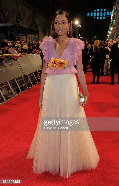 Naomie Harris arrives in an Audi at the EE BAFTA Film Awards at the at Royal Albert Hall on February 12 2017 in London England