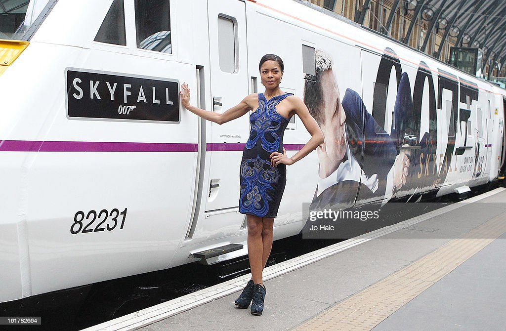 <a gi-track='captionPersonalityLinkClicked' href=/galleries/search?phrase=Naomie+Harris&family=editorial&specificpeople=238918 ng-click='$event.stopPropagation()'>Naomie Harris</a> attends a photocall to unveil the new Skyfall Train at Kings Cross Station on February 16, 2013 in London, England.