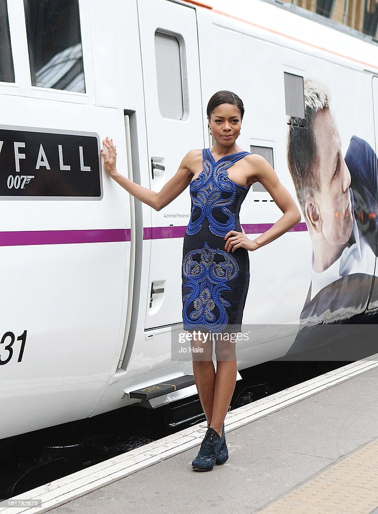 Naomie Harris attends a photocall to unveil the new Skyfall Train at Kings Cross Station on February 16, 2013 in London, England.