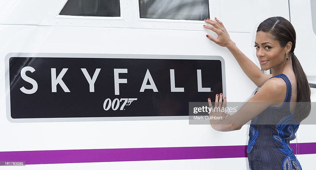 <a gi-track='captionPersonalityLinkClicked' href=/galleries/search?phrase=Naomie+Harris&family=editorial&specificpeople=238918 ng-click='$event.stopPropagation()'>Naomie Harris</a> attends a photocall to unveil the new Skyfall Train on platform 007 at Kings Cross Station on February 16, 2013 in London, England.