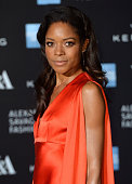 Naomie Harris attends a private view for the 'Alexander McQueen Savage Beauty' exhibition at Victoria Albert Museum on March 12 2015 in London England