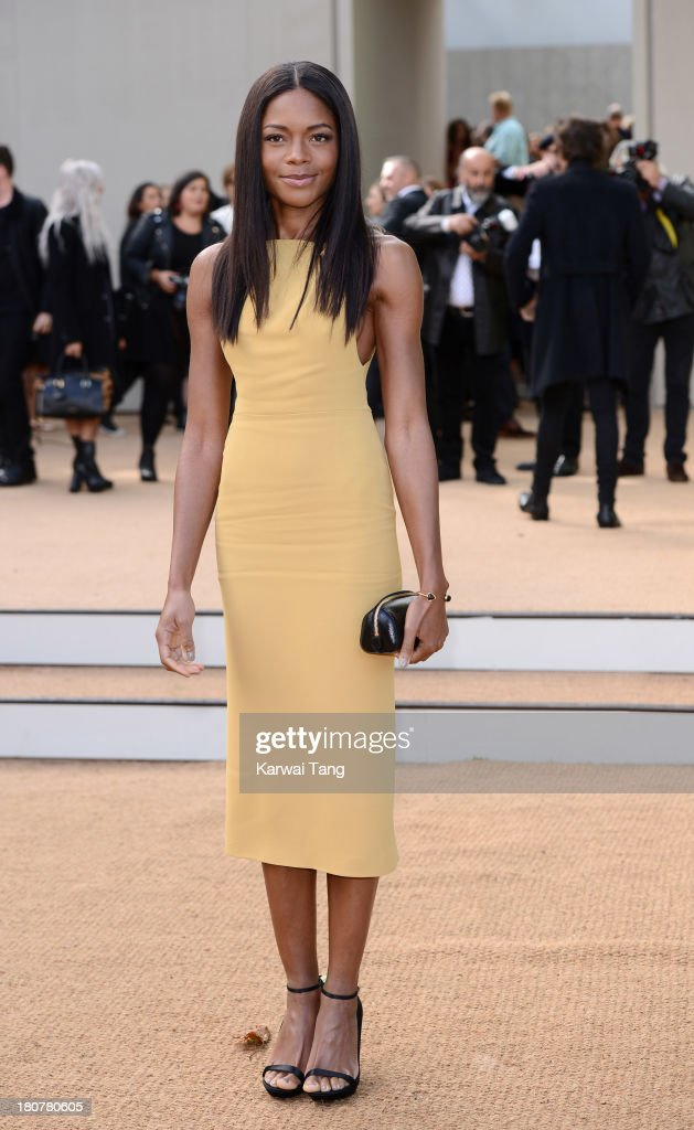 <a gi-track='captionPersonalityLinkClicked' href=/galleries/search?phrase=Naomie+Harris&family=editorial&specificpeople=238918 ng-click='$event.stopPropagation()'>Naomie Harris</a> attends the Burberry Prorsum show during London Fashion Week SS14 at Kensington Gardens on September 16, 2013 in London, England.