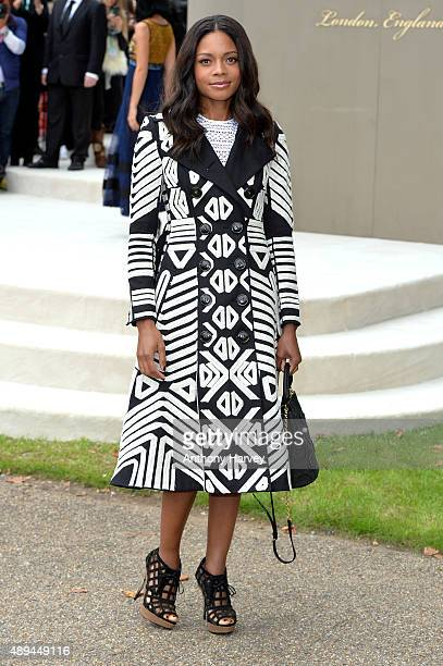Naomie Harris attends the Burberry Prorsum show during London Fashion Week Spring/Summer 2016/17 on September 21 2015 in London England