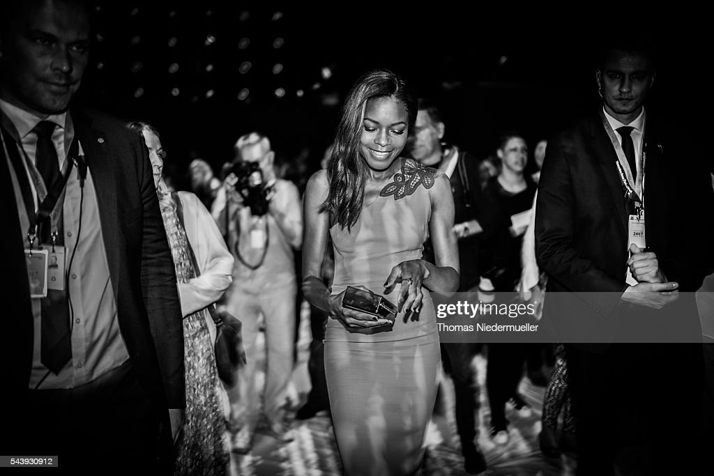 <a gi-track='captionPersonalityLinkClicked' href=/galleries/search?phrase=Naomie+Harris&family=editorial&specificpeople=238918 ng-click='$event.stopPropagation()'>Naomie Harris</a> attends the 'Designer for Tomorrow' show during the Mercedes-Benz Fashion Week Berlin Spring/Summer 2017 at Erika Hess Eisstadion on June 28, 2016 in Berlin, Germany.