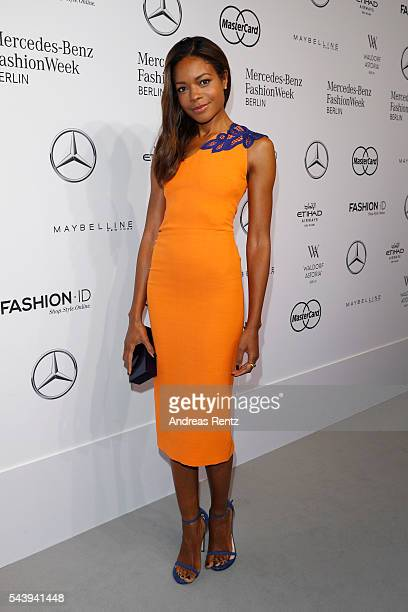 Naomie Harris attends the 'Designer for Tomorrow' show during the MercedesBenz Fashion Week Berlin Spring/Summer 2017 at Erika Hess Eisstadion on...