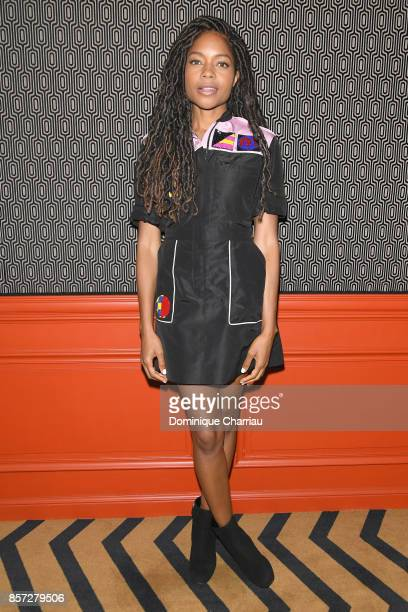 Naomie Harris attends the Miu Miu aftershow party as part of the Paris Fashion Week Womenswear Spring/Summer 2018 at Boum Boum on October 3 2017 in...