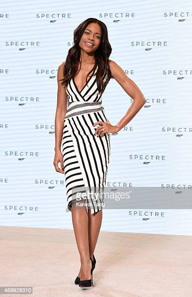Naomie Harris attends the photocall to announce the start of the production of the 24th Bond Film 'Spectre' at Pinewood Studios on December 4 2014 in...
