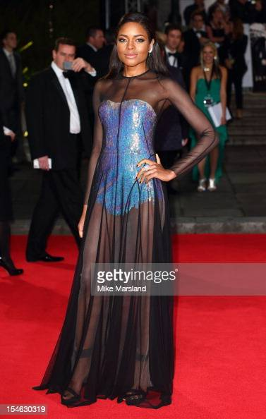 Naomie Harris attends the Royal World Premiere of 'Skyfall' at Royal Albert Hall on October 23 2012 in London England
