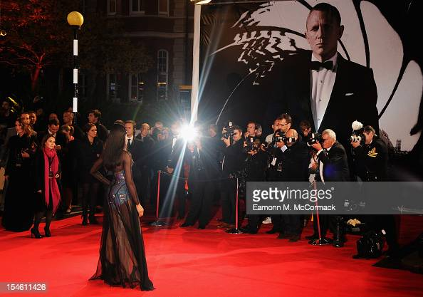 Naomie Harris attends the Royal World Premiere of 'Skyfall' at the Royal Albert Hall on October 23 2012 in London England