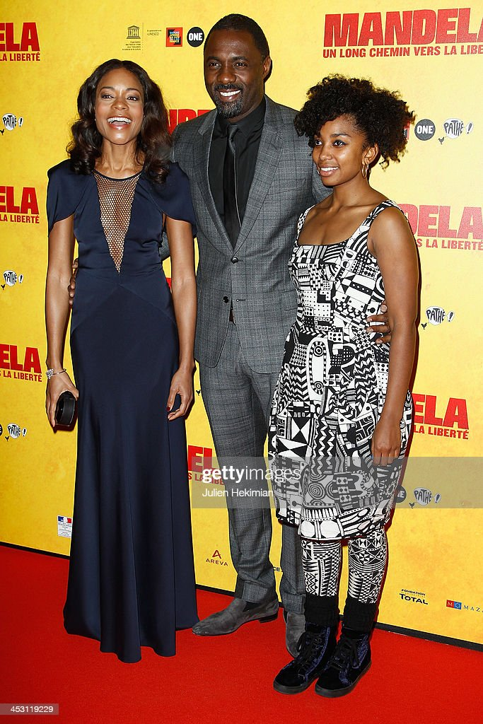 <a gi-track='captionPersonalityLinkClicked' href=/galleries/search?phrase=Naomie+Harris&family=editorial&specificpeople=238918 ng-click='$event.stopPropagation()'>Naomie Harris</a>, <a gi-track='captionPersonalityLinkClicked' href=/galleries/search?phrase=Idris+Elba&family=editorial&specificpeople=215443 ng-click='$event.stopPropagation()'>Idris Elba</a> and Lindiwe Matshikiza attend 'Mandela : Long Walk to Freedom' Paris Premiere at UNESCO on December 2, 2013 in Paris, France.