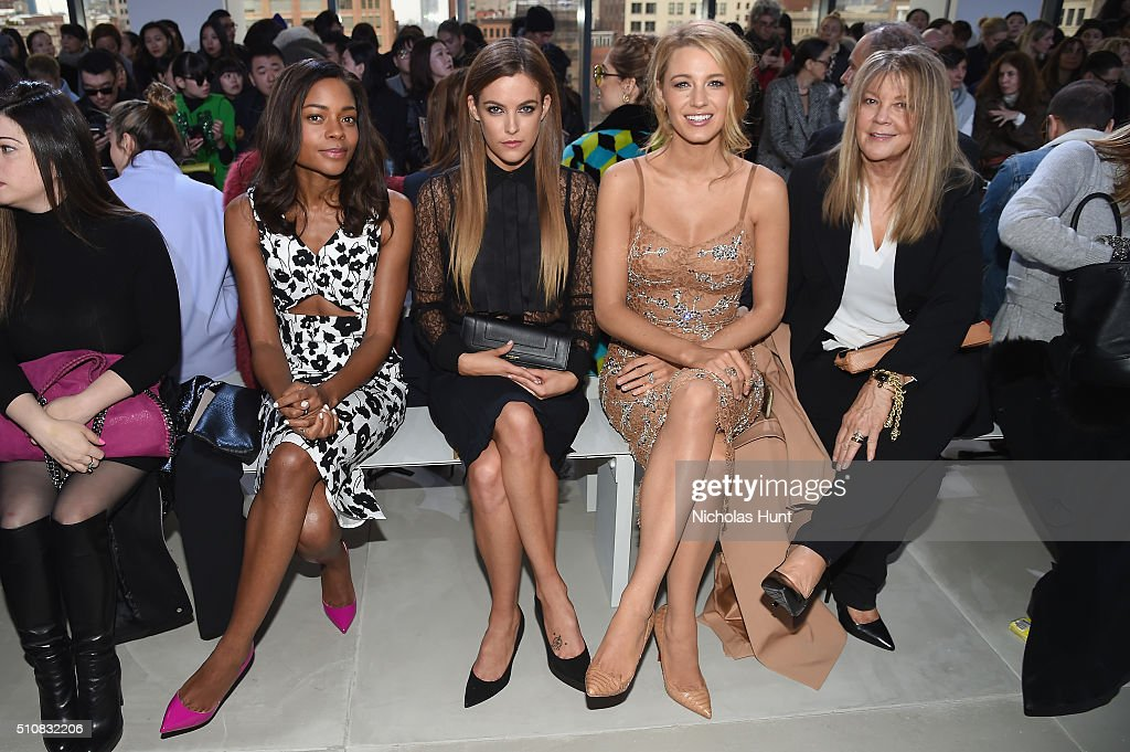Naomie Harris, Riley Keough, Blake Lively, and Elaine Lively attend the Michael Kors Fall 2016 Runway Show during New York Fashion Week: The Shows at Spring Studios on February 17, 2016 in New York City.