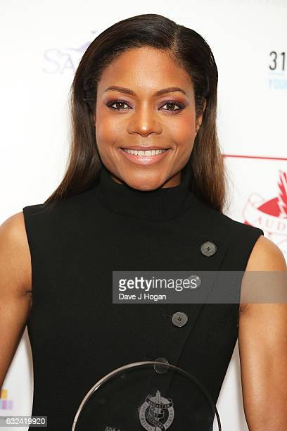 Naomie Harris with the award for Supporting Actress of the Year at the Critics' Circle Film Awards at The Mayfair Hotel on January 22 2017 in London...