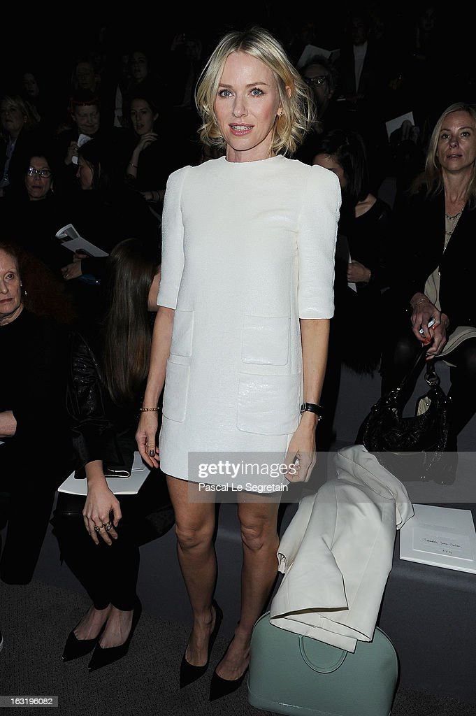 Naomie Watts attends the Louis Vuitton Fall/Winter 2013 Ready-to-Wear show as part of Paris Fashion Week on March 6, 2013 in Paris, France.