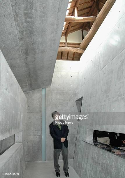 Naoshima Japan Architect Tadao Ando tours Ando Museum a museum dedicated to his works on Naoshima an island in Kagawa Prefecture on March 9 2013