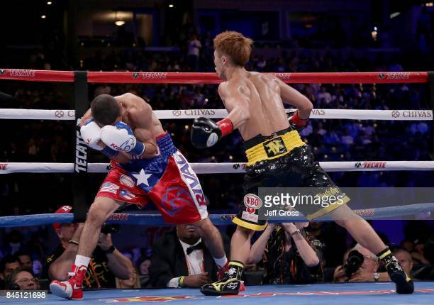Naoya Inoue of Japan prepares to throw a left hand at Antonio Nieves at StubHub Center on September 9 2017 in Carson California