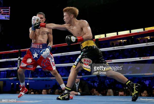 Naoya Inoue of Japan throws a right hand at Antonio Nieves at StubHub Center on September 9 2017 in Carson California