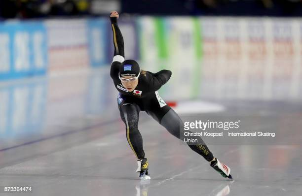 Nap Kodaira of Japan competes on Day Three during the ISU World Cup Speed Skating at the Thialf on November 12 2017 in Heerenveen Netherlands
