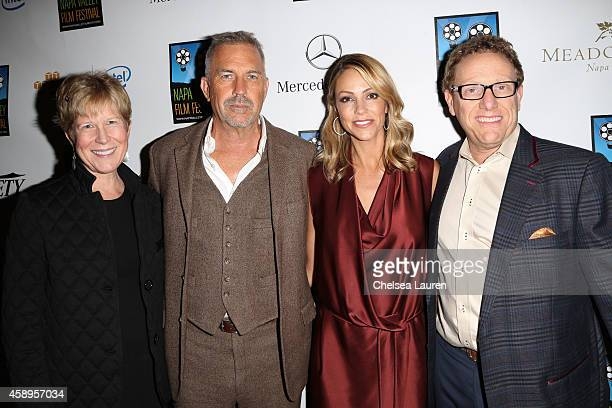 Napa Valley Film Festival founder Brenda Lhormer actor Kevin Costner wife Christine Baumgartner and Napa Valley Film Festival founder Marc Lhormer...
