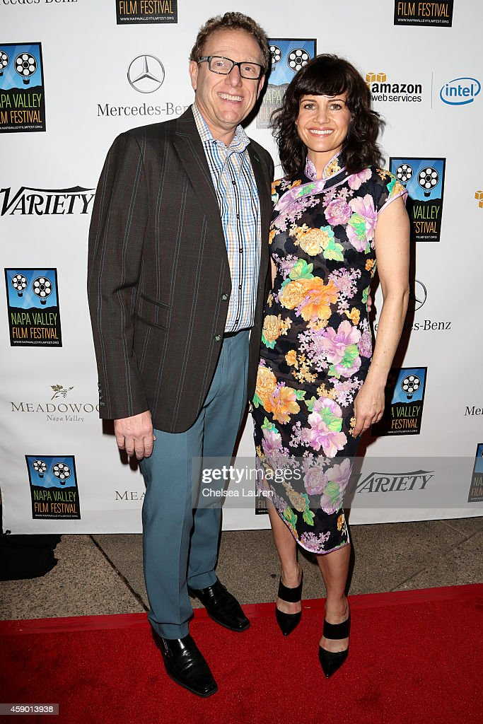 Napa Valley Film Festival founder Marc Lhormer and actress Carla Gugino attend MercedesBenz arrivals at Napa Valley Film Festival celebrity tribute...