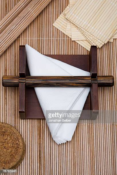 Napkins in a napkin holder