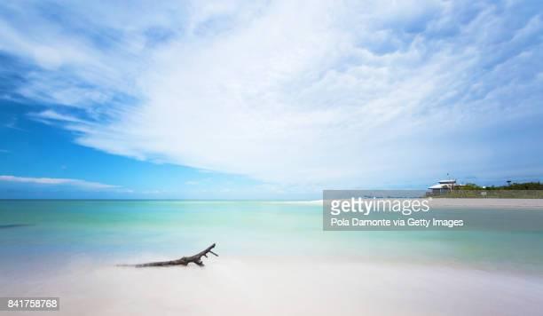 Naples Clam Pass Park beach at an amazing quiet ocean, Florida, USA