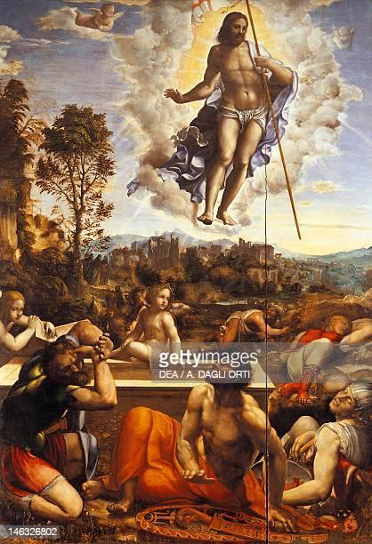 Naples Museo Nazionale Di Capodimonte Resurrection of Christ by Giovanni Antonio Bazzi known as Sodoma