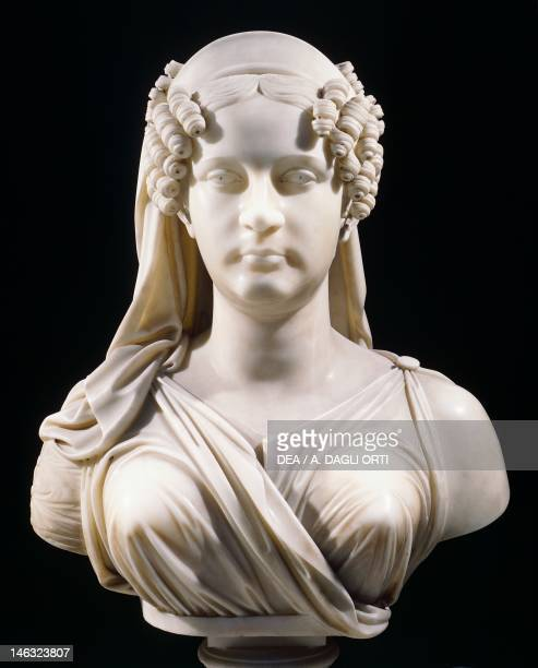 Naples Museo Nazionale Di San Martino Maria Teresa of Austria wife of Ferdinand II Borbone by Giuseppe del Nero Marble bust