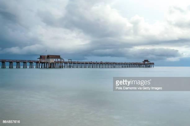 Naples Pier and calm ocean, Florida