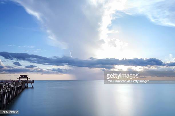 Naples Pier panoramic view, La Florida, USA