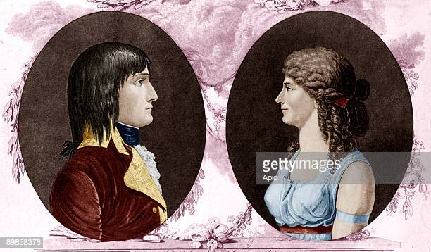 Napoleon 1er empereur en 18041814 et sa premiere femme Josephine de Beauharnais imperatrice Napoleon 1st french emperor and his first wife Josephine...