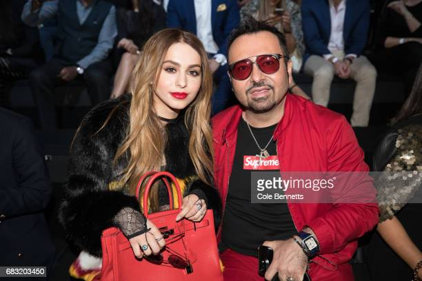 Napoleon and Lianna Perdis attend the Justin Cassin show at MercedesBenz Fashion Week Resort 18 Collections at Carriageworks on May 15 2017 in Sydney...