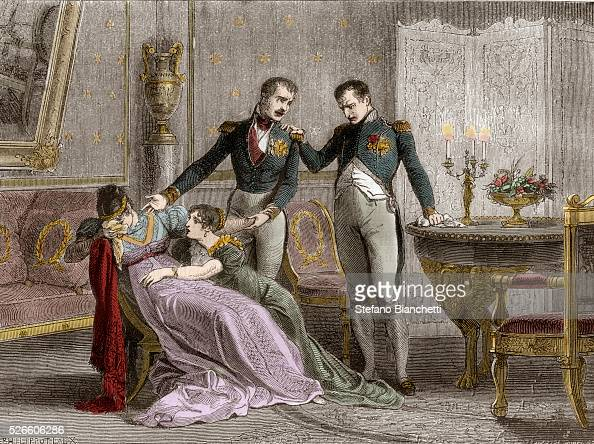 Napoleon announces to Josephine the scheduled day for signing the divorce papers 1809 in 'Histoire de l'empire faisant suite a l'histoire du...