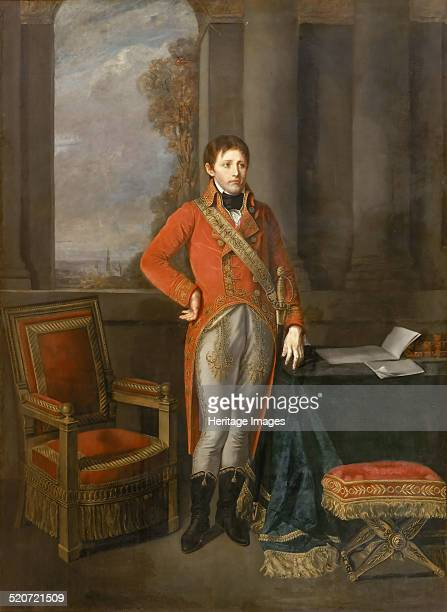 Napoleon Bonaparte as First Consul before a view of Antwerp Found in the collection of Musée de l'Histoire de France Château de Versailles