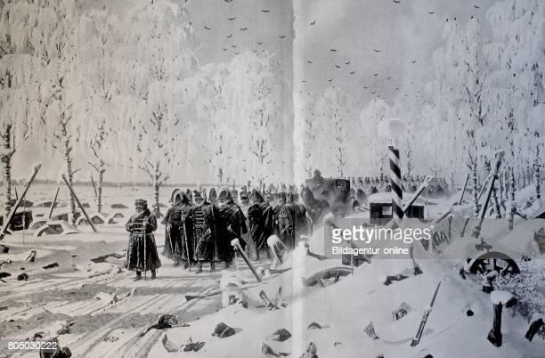 Napoleon Bonaparte Retreat from Russia in winter