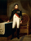 Napoleon Bonaparte's portrait by Robert Lefevre oil on canvas 226x157 cm Napoleonic era France 19th century