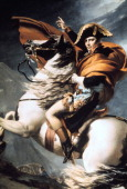 'Napoleon Crossing the Alps' detail c1800