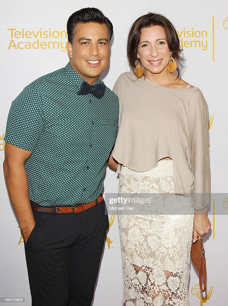 Napoleon D'umo (L) and Tabitha D'umo arrive at Television Academy's Directors Peer Group choreographers celebration held at Leonard H. Goldenson Theatre on August 10, 2014 in North Hollywood, California.