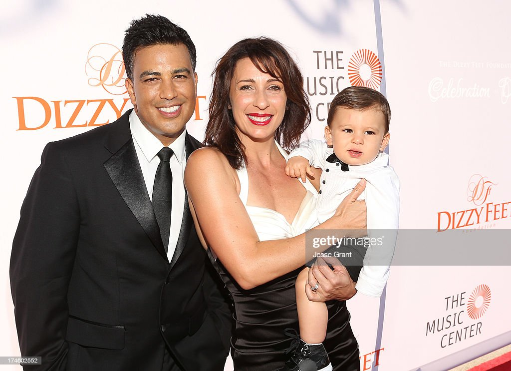 Napoleon D'umo and Tabitha D'umo attend the Dizzy Feet Foundation Third 'Celebration of Dance' Gala at The Music Center on July 27, 2013 in Los Angeles, California.