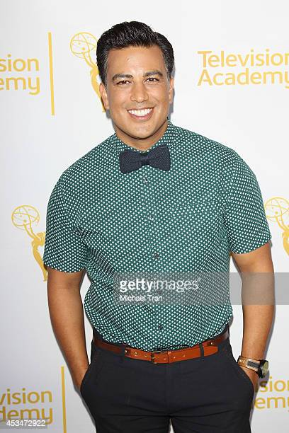 Napoleon D'umo arrives at Television Academy's Directors Peer Group choreographers celebration held at Leonard H Goldenson Theatre on August 10 2014...