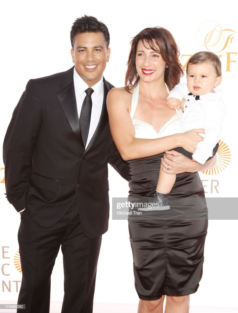 Napoleon D'umo with Tabitha D'umo and their son, London arrive at the Dizzy Feet Foundation's 3rd Annual Celebration of Dance Gala held at Dorothy Chandler Pavilion on July 27, 2013 in Los Angeles, California.