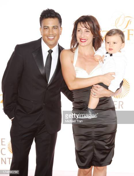 Napoleon D'umo with Tabitha D'umo and their son London arrive at the Dizzy Feet Foundation's 3rd Annual Celebration of Dance Gala held at Dorothy...
