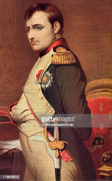 Napoleon I Napoleon Bonaparte 1769 1821 French Emperor General during the French Revolution From the book Harmsworth History of the World published...