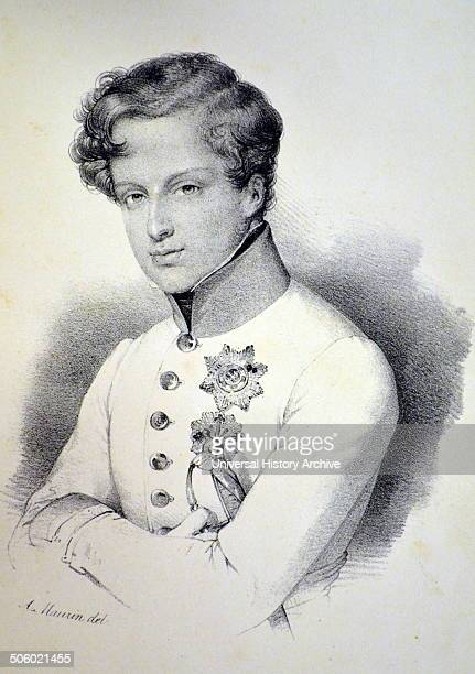 Napoleon II Duke of Reichstadt also known as the King of Rome son of Napoleon I and Marie Louise of Austria Lithograph Paris c1840 Photo by