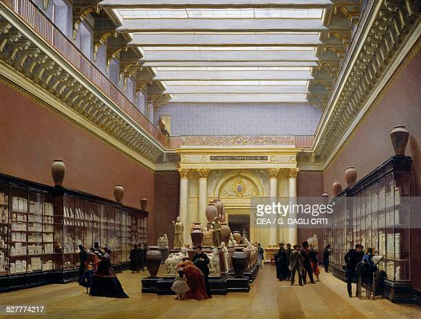 Napoleon III Museum Pottery Hall at the Louvre Museum by Charles Giraud oil on canvas 97x130 cm France 19th century Paris Musée Du Louvre
