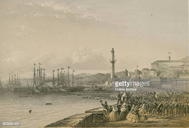 Napoleon III the Emperor of the Second French Empire and theFrench army begin landing in Genoa during the Second Italian War of Independence also...