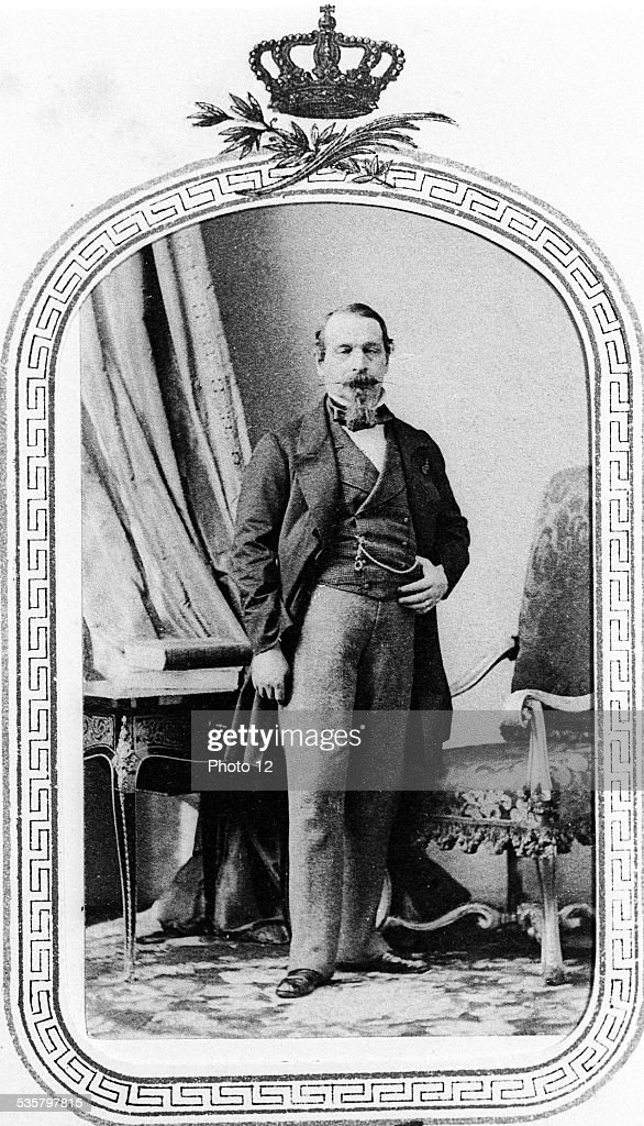 <a gi-track='captionPersonalityLinkClicked' href=/galleries/search?phrase=Napoleon+III&family=editorial&specificpeople=79405 ng-click='$event.stopPropagation()'>Napoleon III</a>, (Paris, 1808 - Chislehurst, Kent, 1873), Third son of Hortense de Beauharnais and Louis Bonaparte, King of Holland and brother of Napoleon I, President of the 2nd French Republic from 1848 to 1852, Emperor of the French from 1852 to 1870.