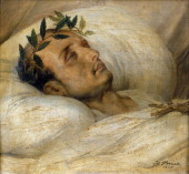 Napoleon on his Deathbed May 1821 Napoleon Bonaparte Emperor of France 18041815 After his defeat at Waterloo in 1815 and his subsequent surrender to...