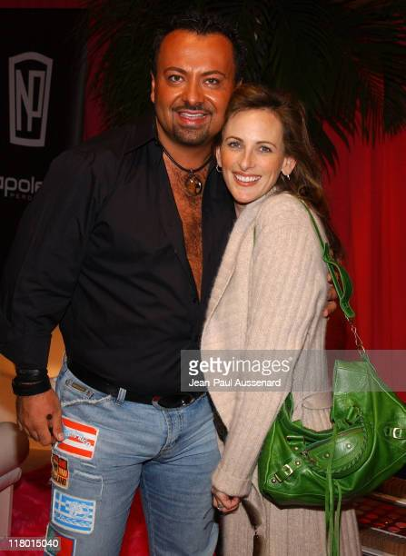 Napoleon Perdis and Marlee Matlin during Silver Spoon PreGolden Globe Hollywood Buffet Day 1 at Private Residence in Los Angeles California United...